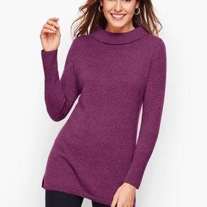 Talbots 100% Cashmere Purple Turtleneck Sweater
